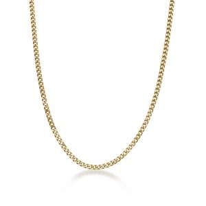 The Fox - Stainless Steel Gold Ion Plated Thin Foxtail Chain Necklace - 4 MM Wide, 22 Inches Length with Push Lock Lock